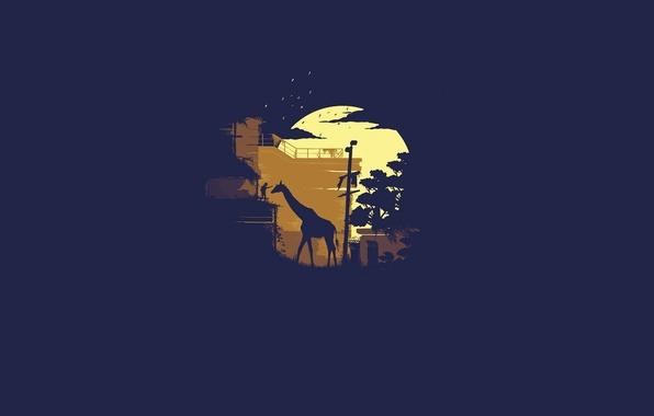 Картинка минимализм, жираф, девочка, The Last of Us, Naughty Dog, Одни из нас, Sony Computer Entertainment, …