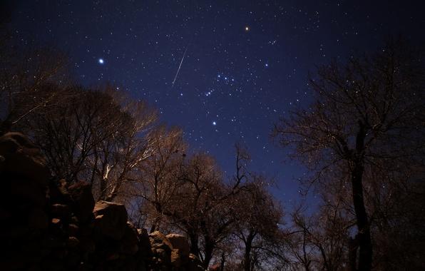 Картинка звезды, метеор, Геминиды, Иран