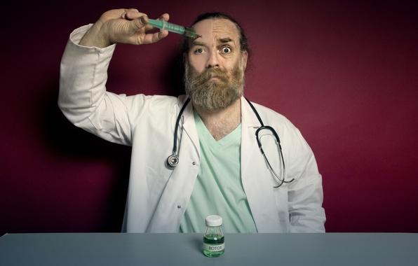 Картинка человек, доктор, шприц