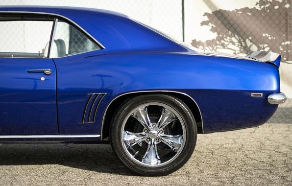Картинка ретро, Chevrolet, Camaro, вид сбоку, Мускул кар