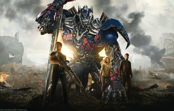 Картинка фантастика, боевик, Марк Уолберг, Optimus Prime, автобот, Mark Wahlberg, Transformers: Age of Extinction, Трансформеры: Эпоха …