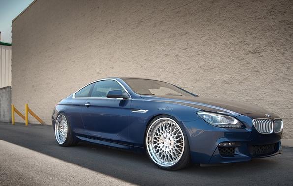 Картинка BMW, blue, coupe, 650i, F13