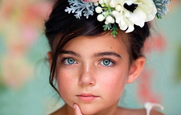 Картинка портрет, девочка, веснушки, child photography, Windows Into The Soul