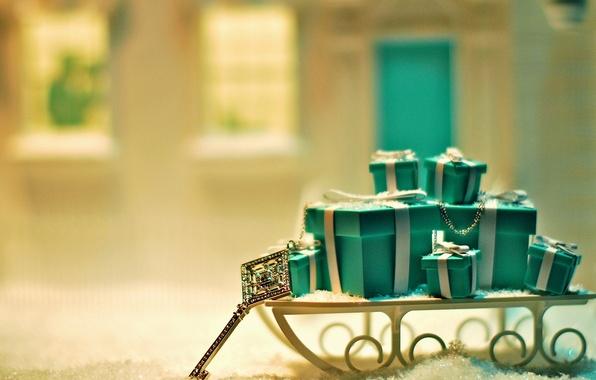 Картинка снег, фон, праздник, подарок, голубой, обои, новый год, рождество, ключ, подарки, wallpaper, new year, широкоформатные, …