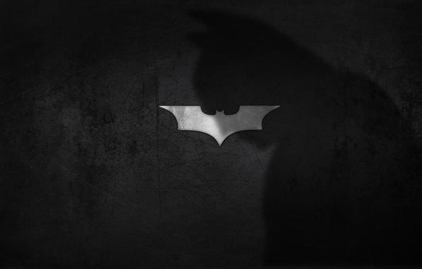 Картинка тень, логотип, бэтмен, тёмный рыцарь