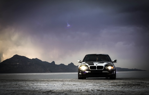 Картинка BMW, Тюнинг, БМВ, winter, Alpina, E38, 740il, arctic camo, camo