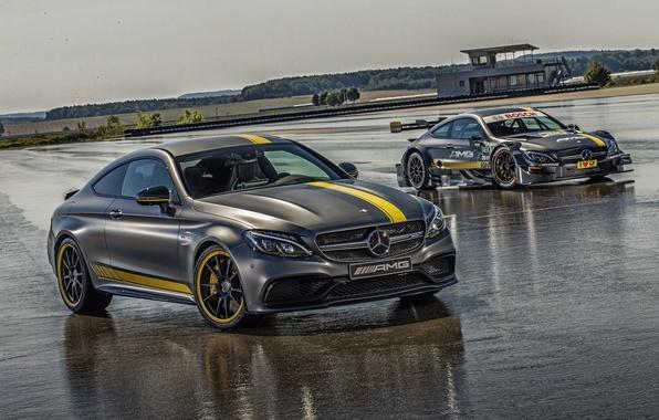 Картинка Mercedes-Benz, мерседес, AMG, Coupe, амг, C 63, 2014, C-Class, C205