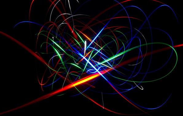 Картинка синий, красный, абстракция, жёлтый, фон, зелёный