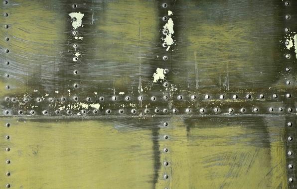 Картинка металл, цвет, текстура, царапины, стальной, заклепки, обшивки, хаки.