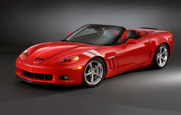 Картинка красный, Chevrolet, corvette