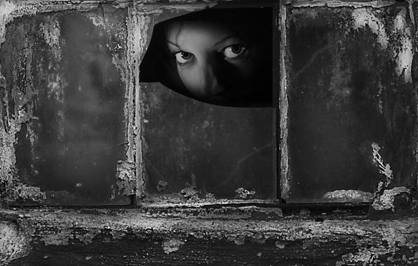 Картинка взгляд, девушка, окно