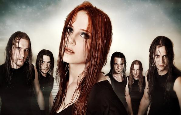 Картинка группа, metal, метал, gothic, band, sympho, epica, готик, Yves Huts, Isaac Delahaye, Simone Simons, симфоник, …