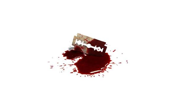 Картинка капли, кровь, лезвие