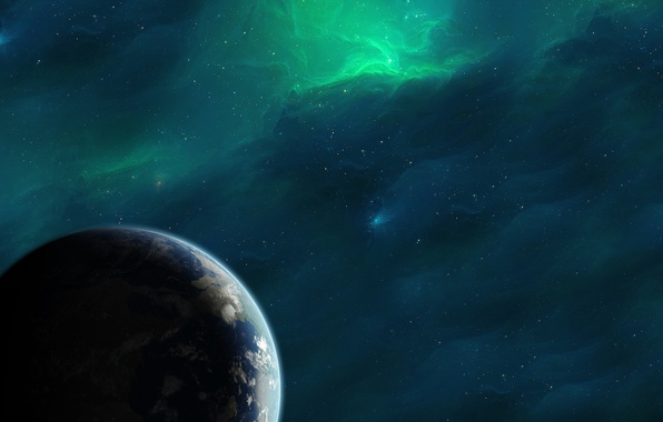 Фото космос планета земля звезды