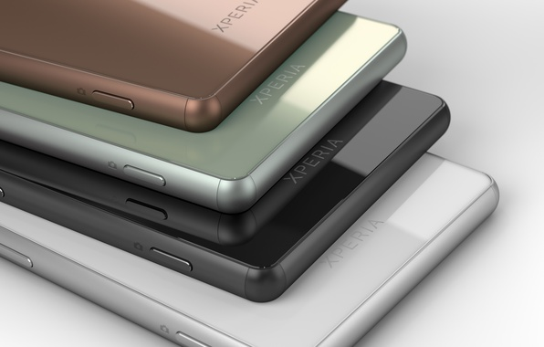 Картинка белый, цвета, зеленый, green, черный, colors, медный, white, black, Sony, android, hi-tech, смартфон, smartphone, Xperia, …