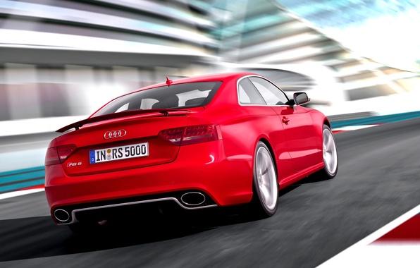 Audi A5 красная купе  № 3761349 бесплатно