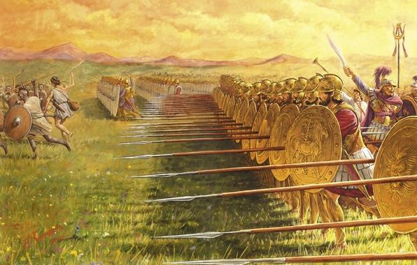 Картинка война, рисунок, битва, пехота, Карфагенская
