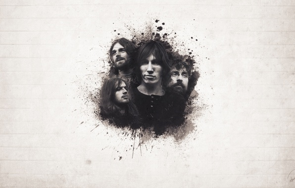Картинка Музыка, Pink Floyd, Richard Wright, Roger Waters, David Gilmour, Nick Mason, Девид Гилмор, Пинк Флойд, ...