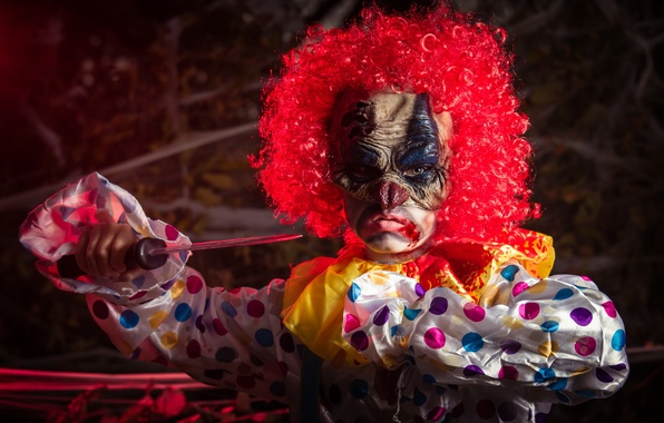 Картинка маска, нож, Happy Halloween