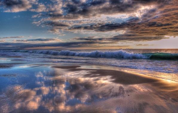 Индийский океан вода волны берег