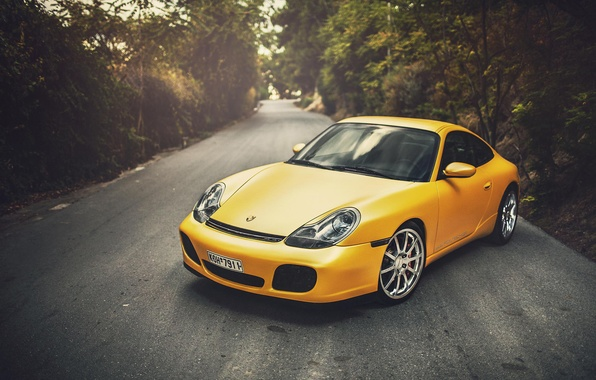 Картинка Porsche, Порше, Carrera, Yellow, 996, Wildness
