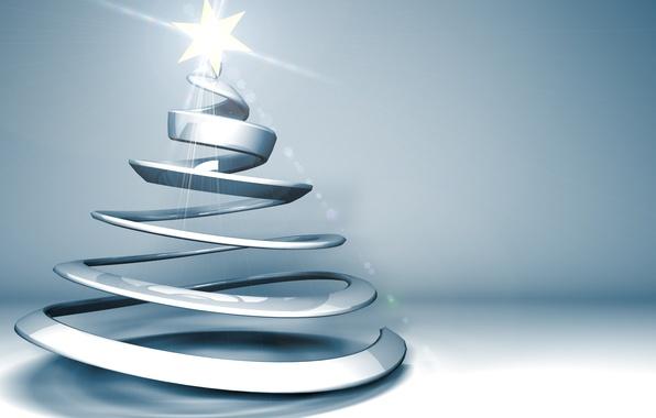 Картинка лучи, праздник, графика, звезда, новый год, рождество, ёлка, christmas, new year