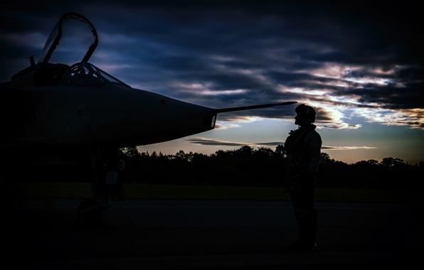 Картинка Jaguar, пилот, аэродром, истребитель-бомбардировщик, SEPECAT