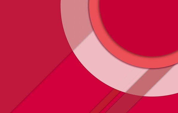 Картинка Red, Circles, Design, Line, Lollipop, Fon, Material, Android 5.0