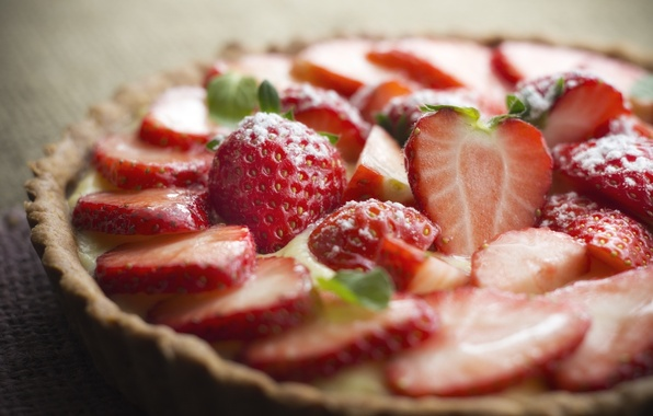 Фото обои фон, widescreen, обои, еда, клубника, ягода, пирог, wallpaper, широкоформатные, background, полноэкранные, HD wallpapers, широкоэкранные, fullscreen