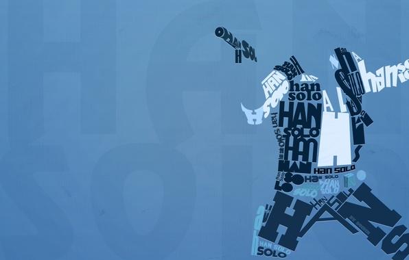 Картинка буквы, Star Wars, английский, типография, Han Solo, Хан Соло
