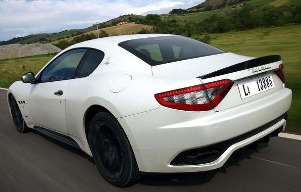Картинка дорога, авто, Maserati, скорость, GranTurismo, Sport, MC line