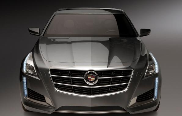 Картинка машина, Cadillac, капот, CTS, передок