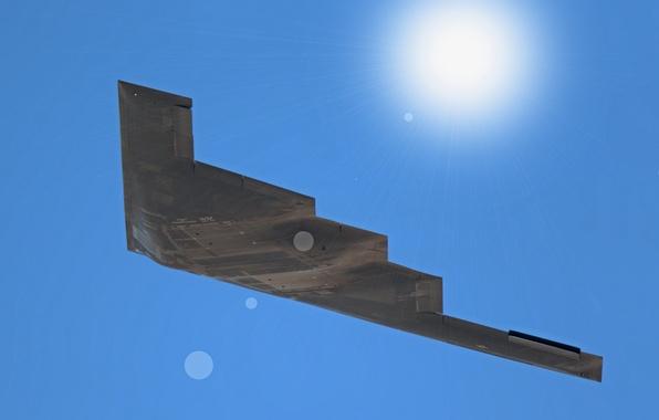 Картинка полет, бомбардировщик, стратегический, малозаметный, тяжёлый, B-2B Spirit