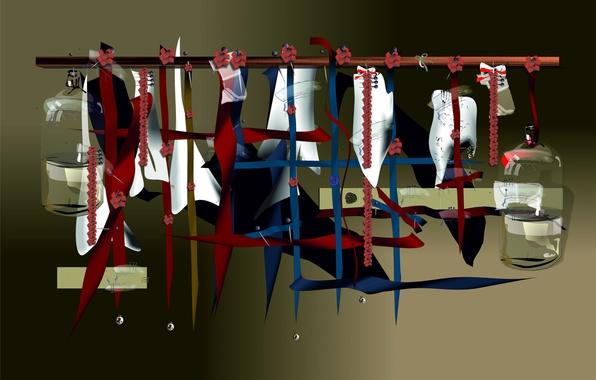 Картинка линии, арт, объем, вешалка, перекладина, бутуль