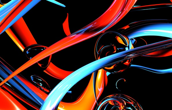 Картинка макро, свет, линии, абстракция, узор, полоса, капля, шар, объем