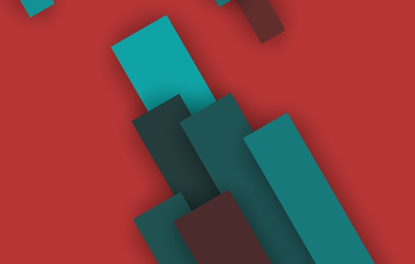 Картинка Android, Red, Design, 5.0, Line, Lollipop, Stripes, Turquoise, Abstraction, Material