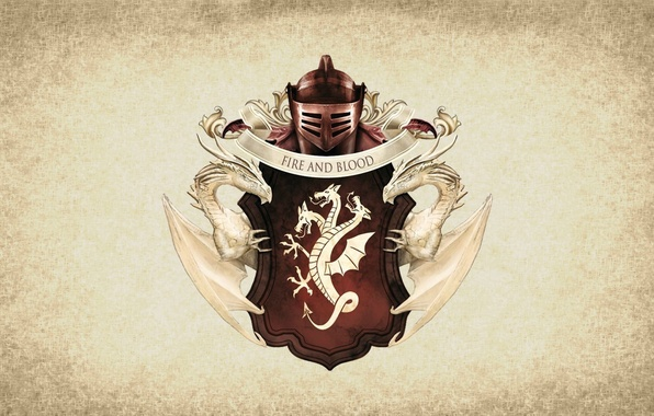Картинка symbol, series, dragon, A Song of Ice and Fire, Game of Thrones, shield, Targaryen, medieval, …
