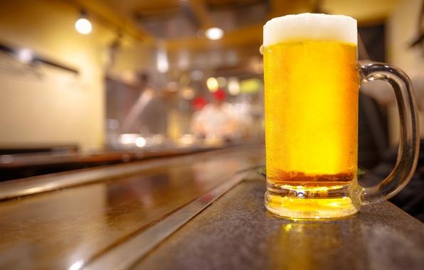 Картинка бокал, пиво, бар