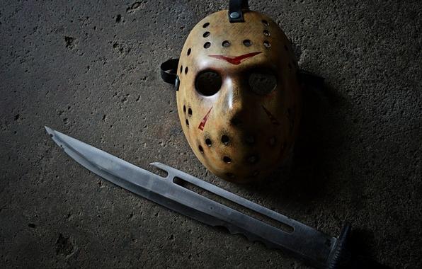 Картинка маска, Джейсон, Пятница 13, нож, Jason