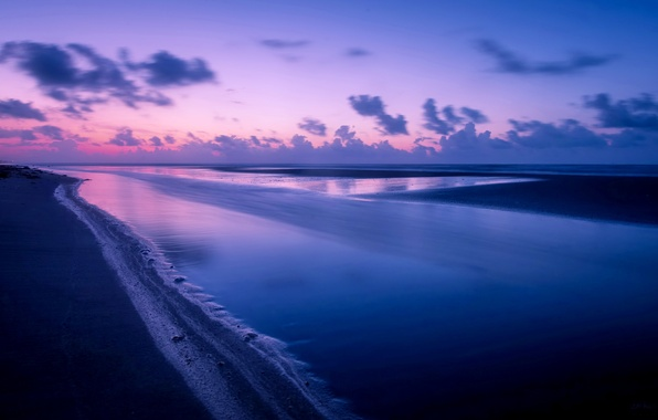 Картинка море, пейзаж, ночь