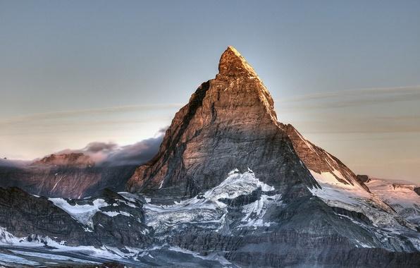 Картинка снег, гора, Швейцария, вершина, Matterhorn