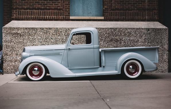 Картинка ретро, Chevrolet, классика, пикап