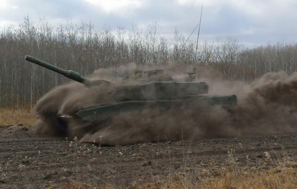 Картинка скорость, пыль, танк, боевой, Leopard 2А6, «Леопард 2A6»