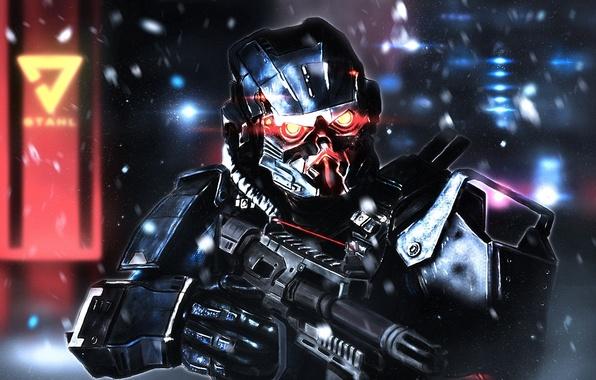 Картинка солдат, art, PlayStation 4, Sony Computer Entertainment, Guerrilla Games, Killzone: Shadow Fall, Helghast, Assault Infantry