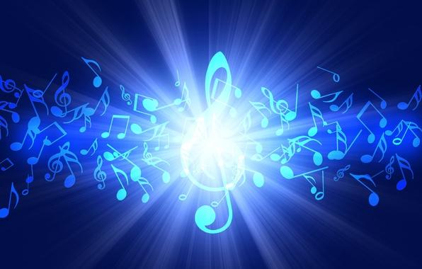 Картинка ноты, музыка, звук, скрипичный ключ