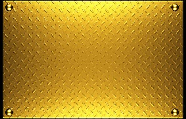 Картинка металл, текстура, metal, plate, gold, texture, background, заклепки, steel, metallic