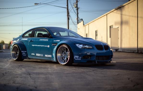 Картинка бмв, BMW, blue, гоночная, race, E92