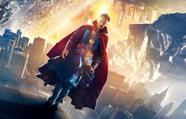 Картинка абстракция, фон, фантастика, фэнтези, постер, Бенедикт Камбербэтч, Benedict Cumberbatch, Doctor Strange, Доктор Стрэндж