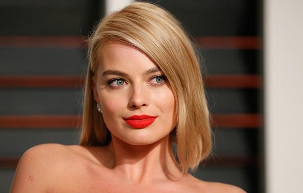 Картинка глаза, взгляд, лицо, улыбка, актриса, блондинка, губы, girl, blonde, Margot Robbie, Марго Робби
