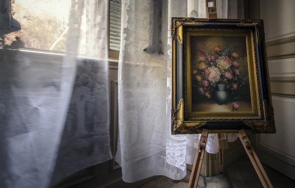 Картинка фон, картина, окно